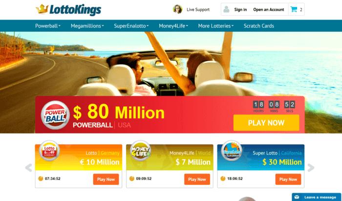LottoKings Website
