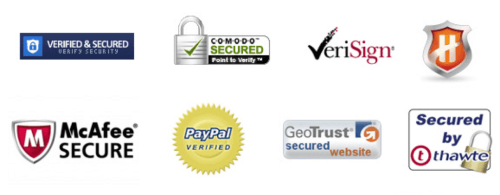 Security and Trust Logos Samples