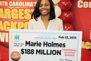 biggest lottery winners of all times - Marie Holmes