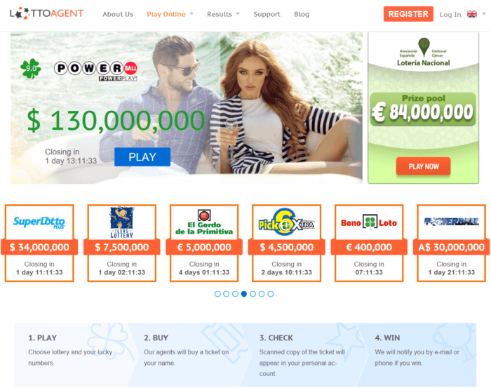Lotto Agent website