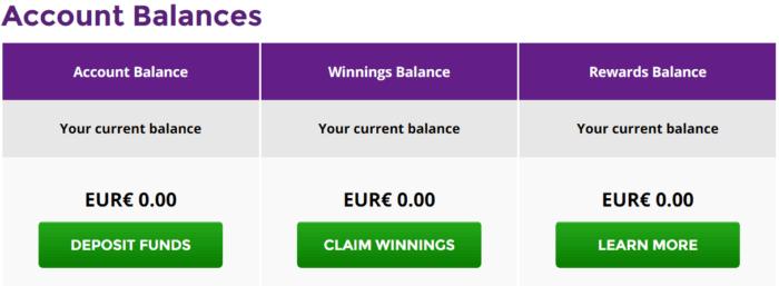 LottosOnline Account Wallets