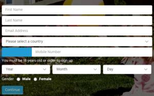 OneLotto Registration Form