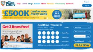 Health Lottery Website
