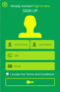 Lotterymaster registration form