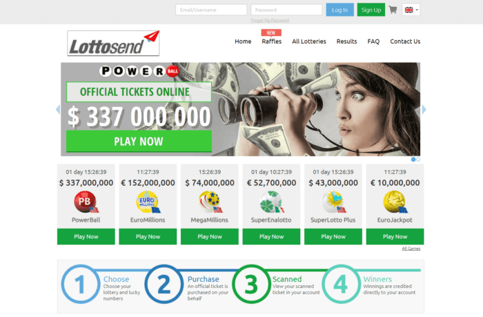 LottoSend Website