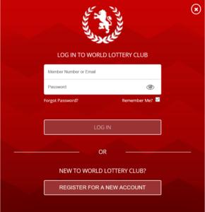 World Lottery Club Registration