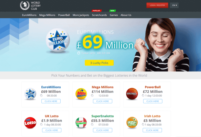 World Lottery Club Website
