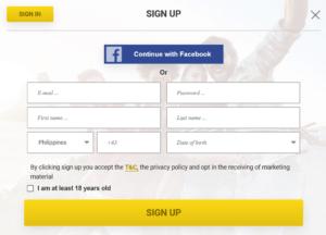 LottoPalace Registration