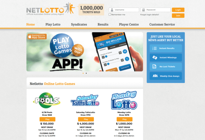 Netlotto Website