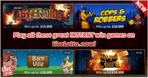 LIveLotto Instant Win Games