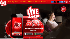 LiveLotto Website