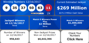 Powerball Results Dec 16