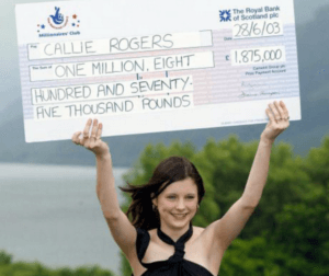 Callie Rogers - The Youngest Lottery Winners
