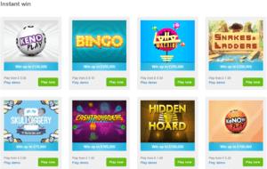 PlayHugeLottos Instant Win