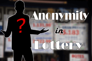 Anonymity in Lottery