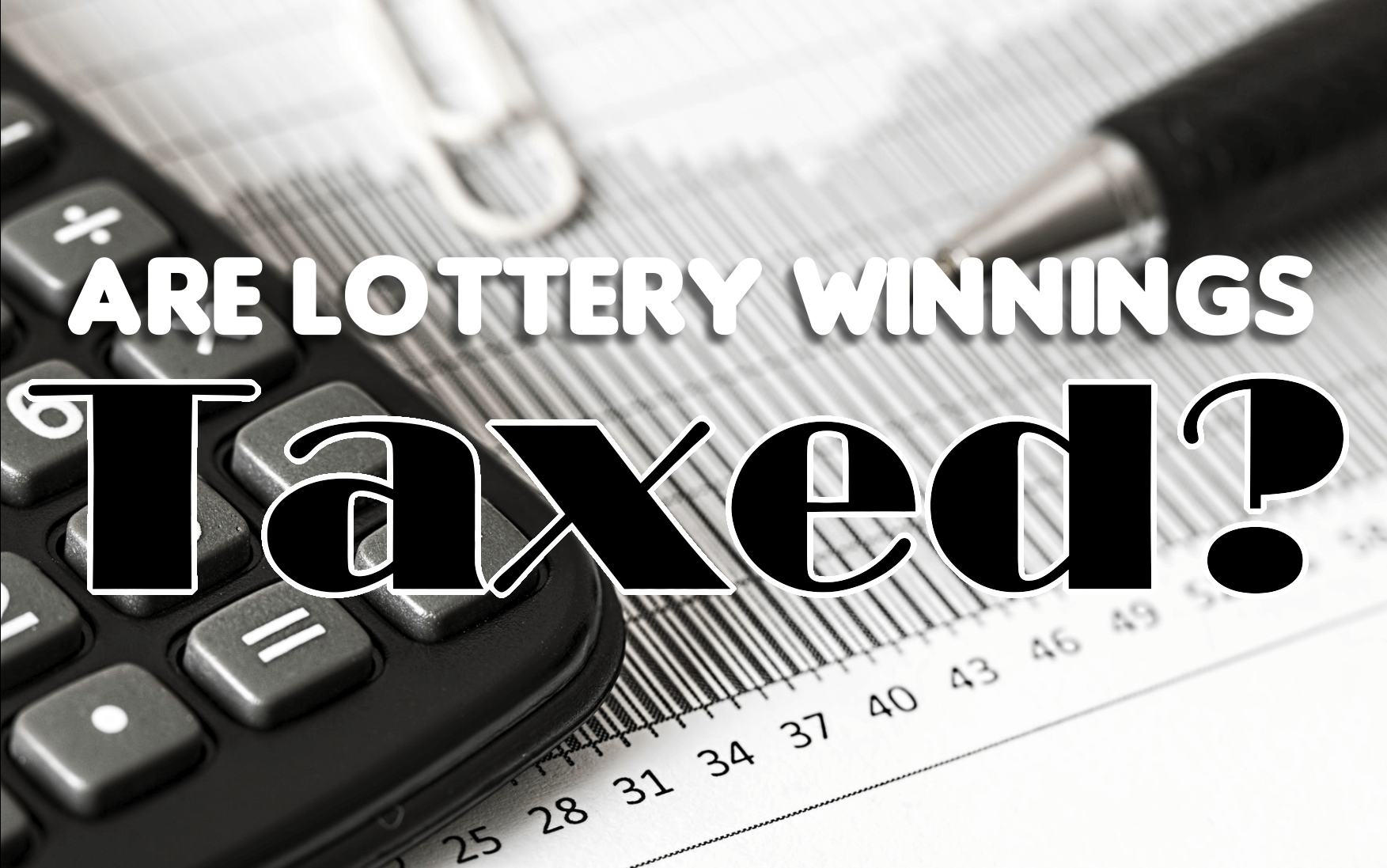 Tax On Lottery Winnings Australia