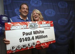 Paul White Powerball winner