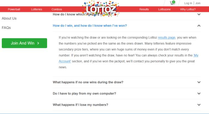 Lotto Agent vs Lottoz Claiming Prizes Lottoz