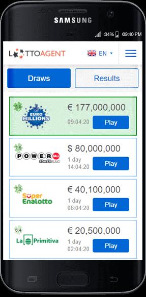 Lotto Agent vs Lottoz mobile apps