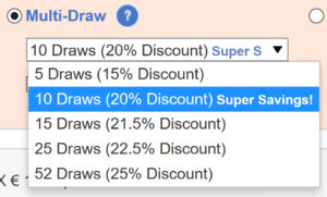 theLotter Multi-draw discounts
