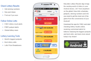 Buying an online lottery ticket on your mobile phone