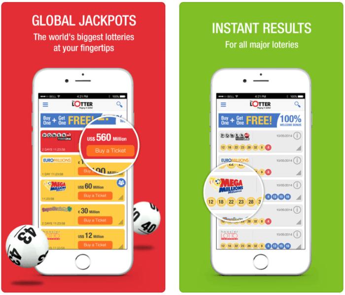 thelotter vs lottoz lotter mobile app