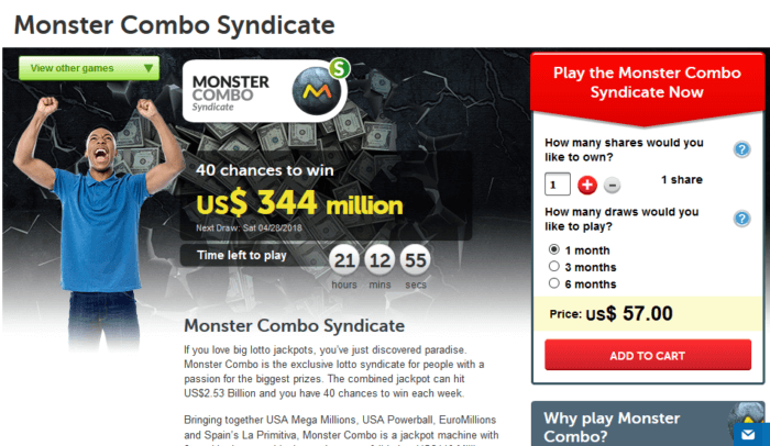 wintrillions vs lottoz games offered monster combo syndicate wintrillions