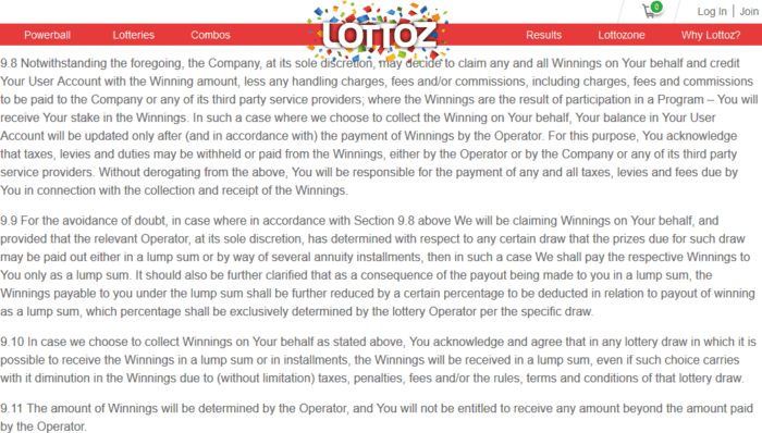wintrilllions vs lottoz terms and conditions lottoz