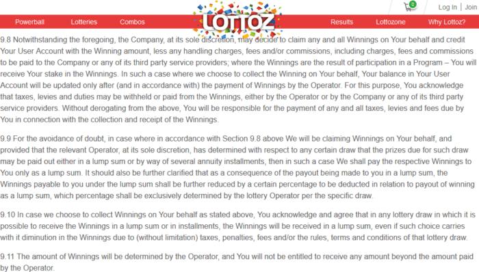 wintrilllions vs lottoz terms and conditions lottoz