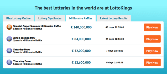 lotto agent vs lottokings games offered raffles