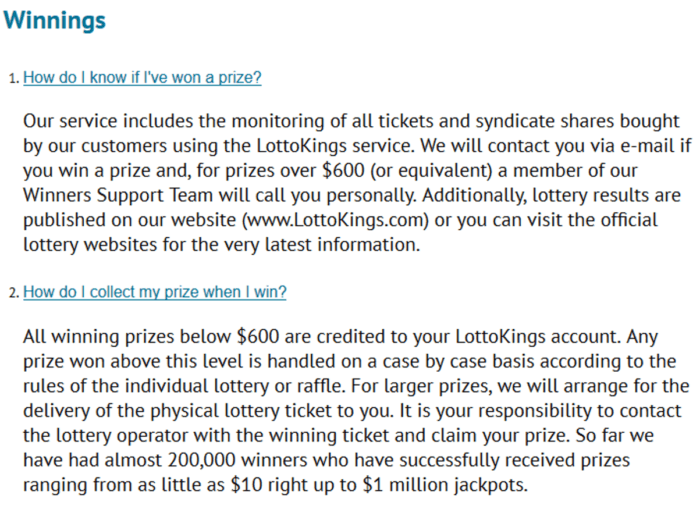 lotto agent vs lottokings prize claiming at lottokings
