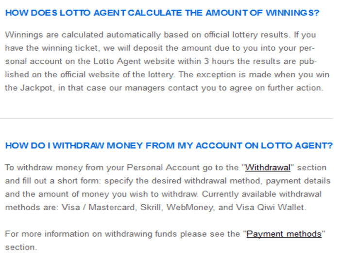 lotto agent vs lottokings withdrawal at lotto agent