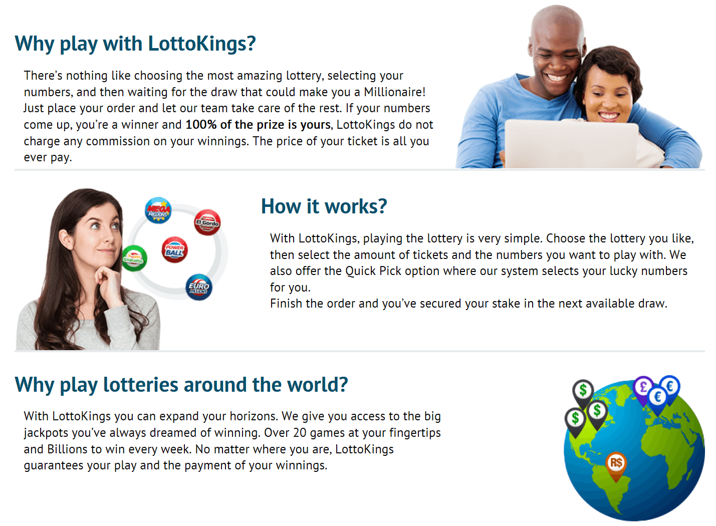 LottoKings vs MultiLotto ease of use homepage