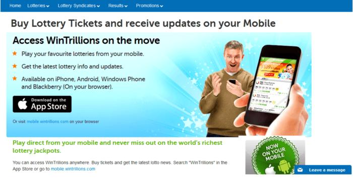 wintrillions vs lotto agent mobile app for wintrillions