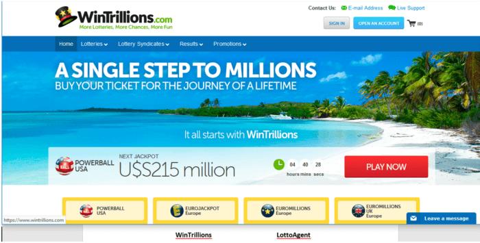wintrillions vs lotto agent powerball notification