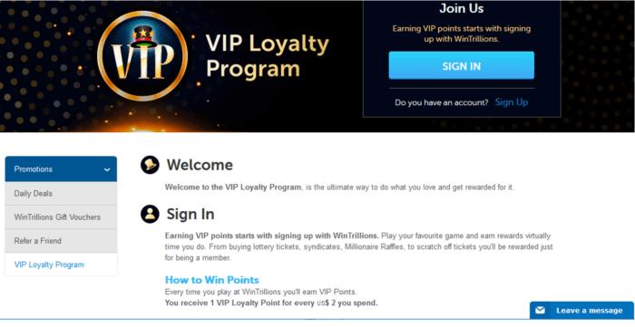 wintrillions vs lotto agent vip program