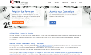 theLotter Affiliates website landing page