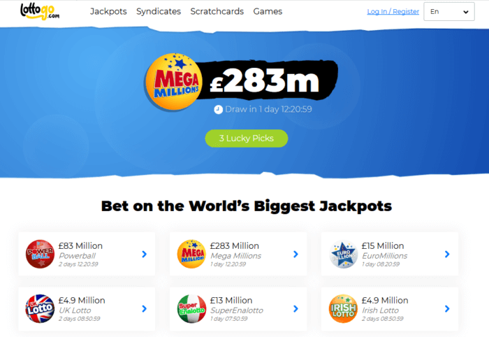 World Lottery Club Website Homepage