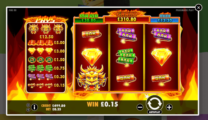 LottoGo sample Dragon Shrine virtual slot game