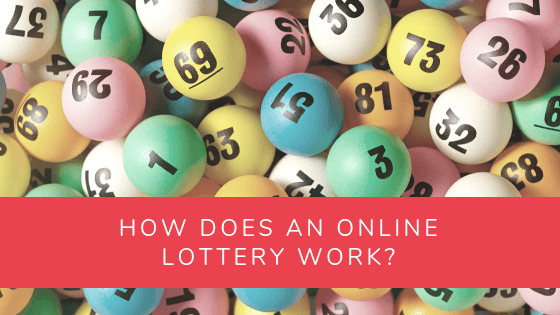online lottery article banner with lotto balls