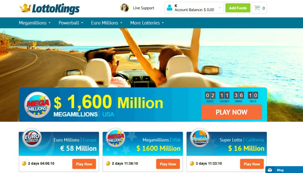 Lottokings Homepage