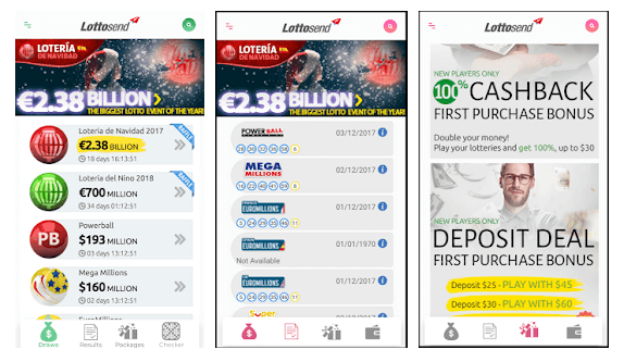 LottoSend mobile Android app