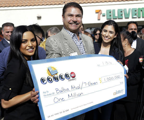 Balbir Atwal received $1M for selling California's winning Powerball ticket