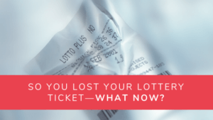 Lost Lotto Ticket Article Header Image