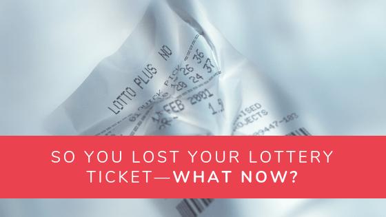 Lost Lotto Ticket Article Header Image