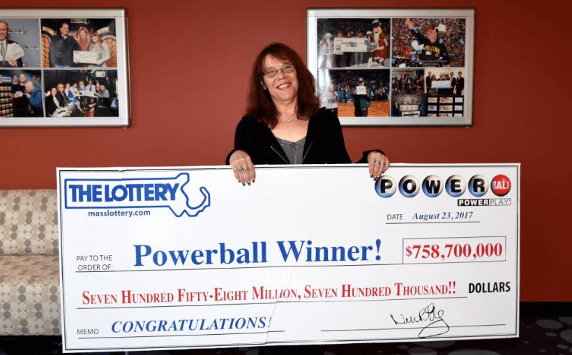 Mavis Wanczyk lottery prize cheque jackpot