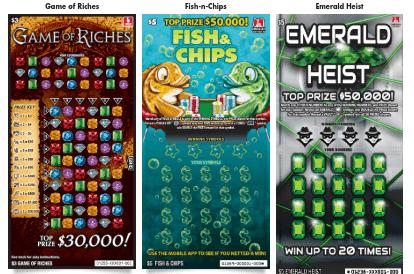 Oregon Lottery Scratch-its