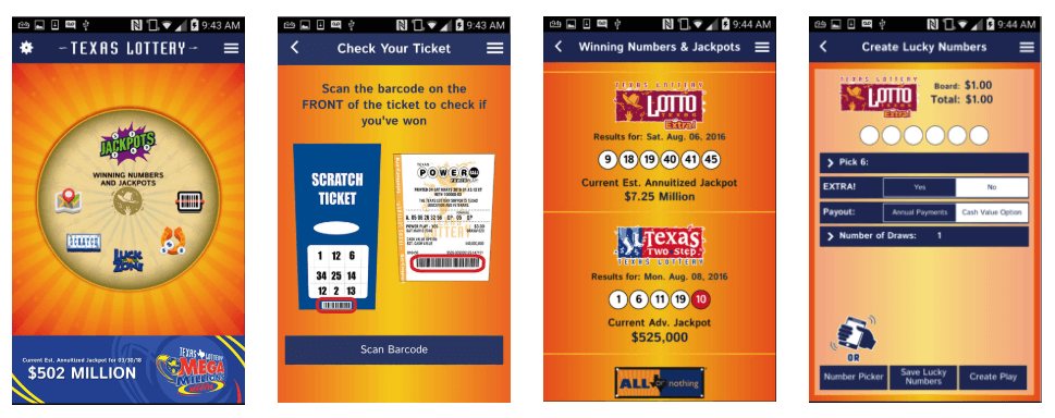 Texas TX Lottery mobile app