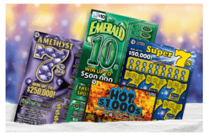 Illinois Lottery instant games scratch offs