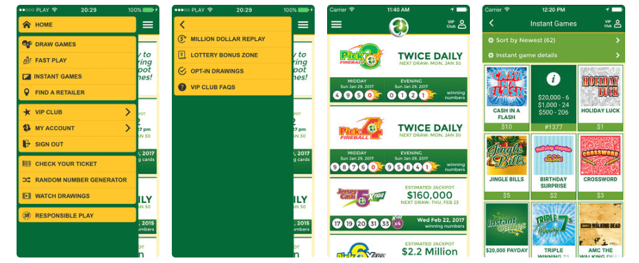 New Jersey Lottery mobile ios android app